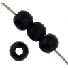 Wooden Bead Round 4mm Black Lacquered